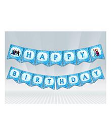 Party Propz Frozen Theme Birthday Banner - Blue