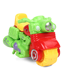 Friction Toy Motor Bike - Green & Red