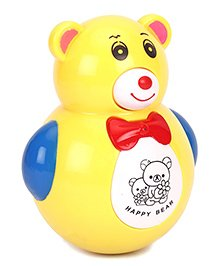 Happy Bear Roly Poly Toy - Mustard Yellow