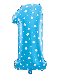 Party Propz First Birthday Balloon - Blue