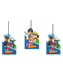 Party Propz Paw Patrol Thank You Tags Multi Colour - 12 Pieces