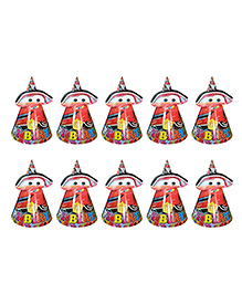 Party Propz Cars Themed Birthday Caps Red - 10 Pieces