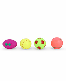 IToys Squeaky Bath Toy Ball Pack Of 4 - Multi Colour