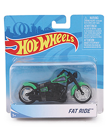 Hot Wheels Fat Ride Bike - Green & Black
