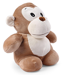 My Baby Excels Monkey Plush Soft Toy Brown - Height 28 Cm