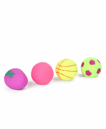 IToys Ball Shaped Squeeze Bath Toys Multicolour - Pack Of 4