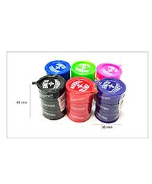 Abhiyantt Barrel-O-Slime Set Of 6 (Assorted Colours)
