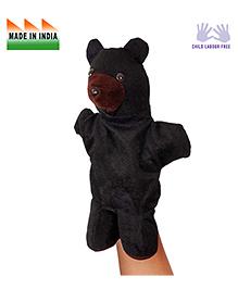 Eduedge Bear Shape Hand Puppet Glove Black -  Height 25 Cm