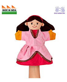 Eduedge Princess Hand Puppet Pink - Height 25 Cm