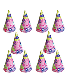 Party Propz Peppa Pig Themed Caps Pink - 10 Pieces