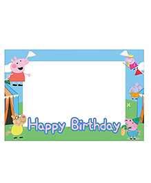 Party Propz Peppa Pig Themed Photo Booth Frame - Blue