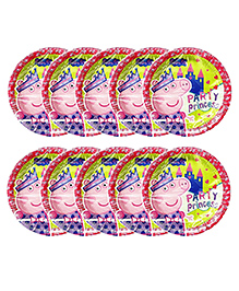 Party Propz Peppa Pig Paper Plates Multicolour - 10 Pieces