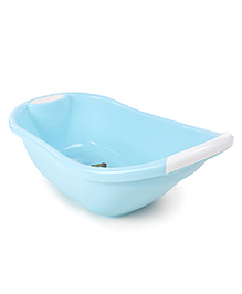 Baby Bath Tub Teddy Bear Print - Blue & White