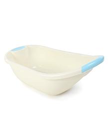 Baby Bath Tub Teddy Bear Print - Cream & Blue