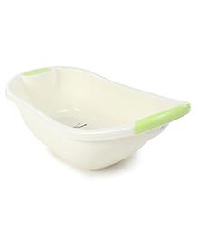 Baby Bath Tub Owl Print - Green & Cream