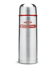 Milton Vacuum Thermosteel Flip Lid Flask Red & Silver - 350 Ml