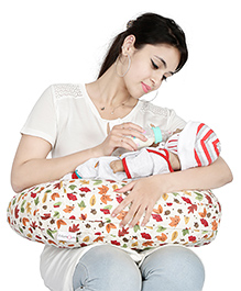 Lulamom Allergen Nursing Pillow & Cover Leaf Print - Multicolour