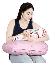 Lulamom Curved Soft Feeding Pillow - Pink