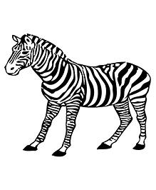 Party Propz Zebra Cutout Black & White - Width 58.4 Cm