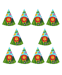 Party Propz Jungle Theme Party Caps Multicolour - 10 Pieces