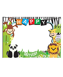 Party Propz Jungle Theme Photobooth Frame (2Ft) For Jungle Birthday Decoration