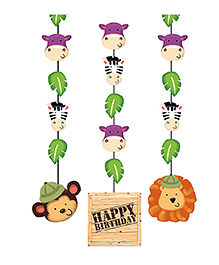 Party Propz Jungle Theme Hanging Decorations Multicolour - Pack Of 3 - 2272186
