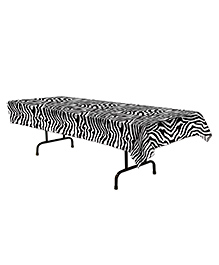 Party Propz Jungle Theme Table Cloth - Black & White