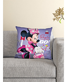 Athom Trendz Minnie Mouse Cushion With Cover - Purple & Pink