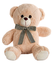 Dhoom Soft Toys Teddy Bear With Bow Beige - Height 28 Cm
