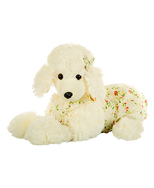Dhoom Soft Toys Plush Poodle Dog Off White - Length 32 Cm