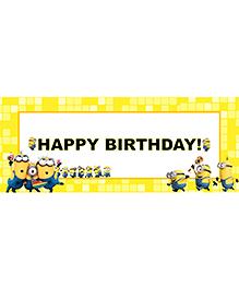 Party Propz Minion Themed Birthday Banner - Yellow