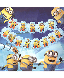 Party Propz Minion Themed Birthday Banner - Yellow & Blue
