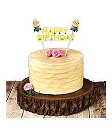Party Propz Minions Cake Topper - Cream