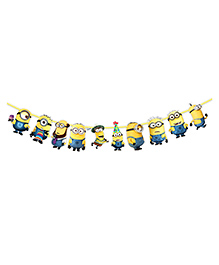 Party Propz Minions Themed String Banner - Yellow & Blue