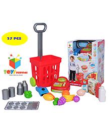Toys Bhoomi 2 In 1 Supermarket Cash Register Multicolour - 27 Pieces