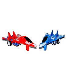 Vibgyor Vibes Friction Fighter Jet AeroPlane - (Colour May Vary)