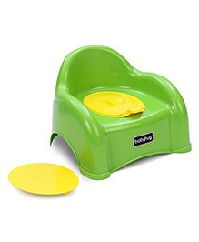 Babyhug  2 In 1 Baby Potty Seat Cum Chair - Green