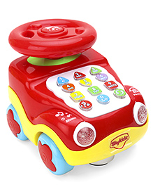 Mitashi SkyKidz Learning Car Musical Toy - Red
