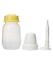 Pigeon Feeder Bottle With Long Nipple For Cleft Palate - Yellow And White