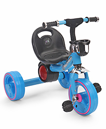Musical Tricycle With Bottle Holder - Blue
