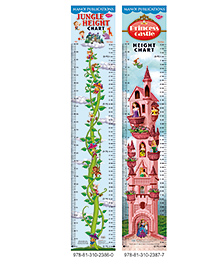 Height Charts Set Of 2 - Multicolour