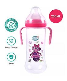 Buddsbuddy Feeding Bottle With Handle Printed Pink - 250 Ml - 2308294