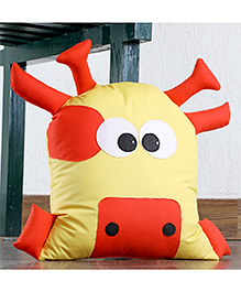 My Gift Booth Cow Shaped Cushion - Yellow