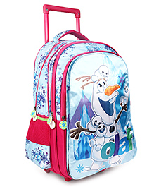 Disney Frozen Flap Trolley School Bag Blue - Height 18 Inches (Prints May Vary)