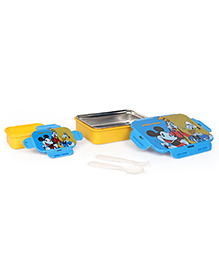 Disney Mickey Mouse & Friends Insulated Lunch Box With Stainless Steel Inside - Blue & Yellow