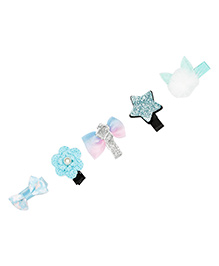 Pikaboo Combo Alligator Hair Clips - Pack Of 5