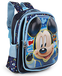 Disney Mickey Mouse & Friends School Bag Blue - Height 16 Inches