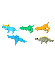 Chipbeys Dinosaur Shape Fun Erasers - Pack Of 5
