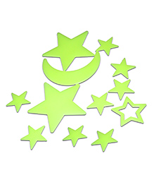Chipbeys Glow In The Dark Stars Wall Stickers - Pack Of 20