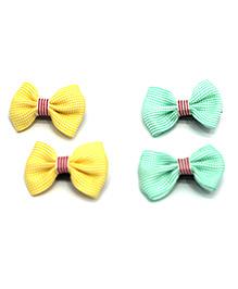 Kid-O-World Bow Hair Clip - Yellow & Green